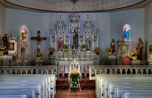 In side the Church at Duran, NM (HDR)
