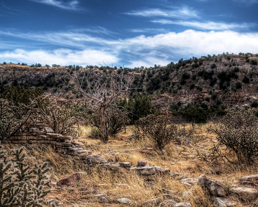 Foundation on the mesa.  (HDR)